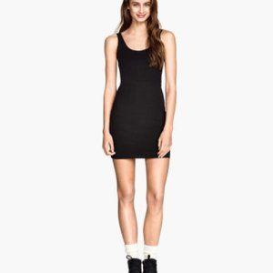 H&M Divided Black Speckled Tank Mini Dress